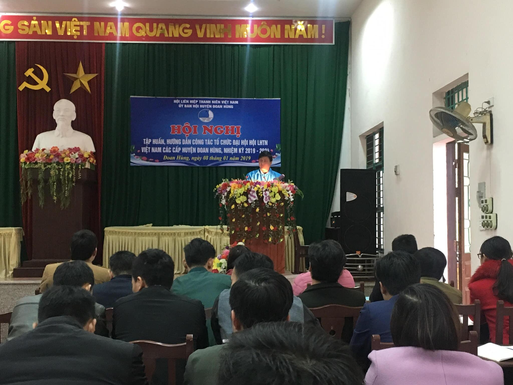 Đoan Hùng: Tổ chức Hội nghị tập huấn chuẩn bị Đại hội Hội LHTN Việt Nam các cấp nhiệm kỳ 2019-2024